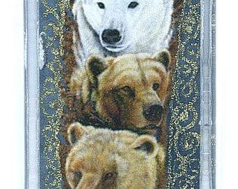 Polar Grizzly Kodiak Black Bear Totem Pendant