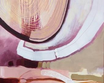 Tree Ring Circus Original Painting Acrylic on Canvas