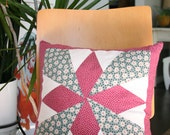 """13""""x13"""" Quilt Star Pillow with kapok pillow form included"""