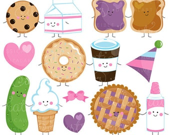 Perfect Pair Cute Digital Clipart - Commercial Use OK - Things that Go Together, Pairs, Valentine Graphics, Valentine Clipart