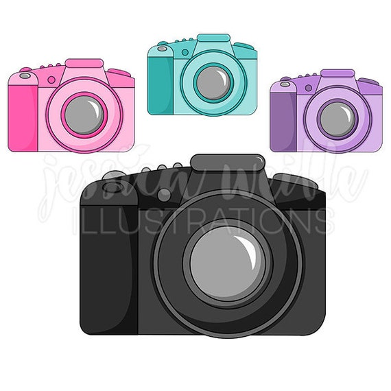 DSLR Camera Cute Digital Clipart Commercial Use OK Cute