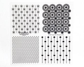 CTMH D1280 Spot On Backgrounds Close To My Heart Dots Circles Clear Stamp Set Rubber Stamping Retired Discontinued Unmounted Stamps USED