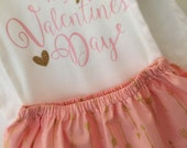First Valentines outfit;  Baby Girl Outfit; Valentine's Day outfit; valentines dress