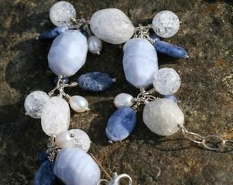 One of a Kind, Chunky Blue Cha Cha Bracelet