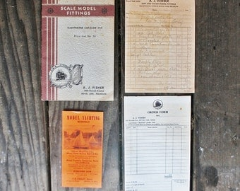 Vintage AJ Fisher Ship and Yacht Scale Model Catalog, Order Forms, Magazine Subscription - 1951