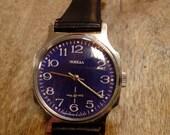Wrist watch mens watch Pobeda cobalt blue watch men watch