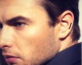 Helix piercing earring, black stick earring for men, ear cartilage piercing stud earring, gauged piercing earring, guys black earring, 464mb