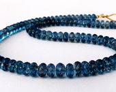 18k Gold London Blue Topaz Necklace