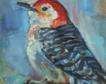 Woodpecker, Bird Art, Nature Art, Woodland Art, Cabin Art, Gift for her, Wildlife, Country Decor,  Birdwatcher, Rustic Art, Mother's Day