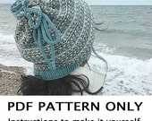 Knitting Pattern - Hat Knitting Pattern - Cowl Pattern - the QUISSETT Hat and Cowl (Toddler Child & Adult sizes) Women's Fashion