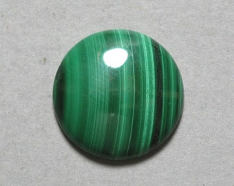 green MALACHITE round cabochon 20mm disc designer cab