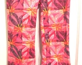 Lilly Pulitzer Pink Floral Print Pants.  Boho Printed Corduroy Pants. Lilly Pulitzer Pants.