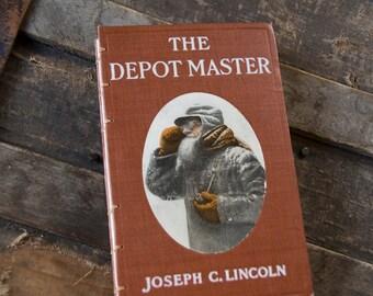 1910 DEPOT MASTER Vintage Lined Notebook Journal