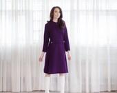 60s MOD Dress - Vintage 1960s Wool Dress - Hiraeth Dress