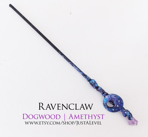 Dark galaxy harry potter inspired wand ravenclaw by justalevel for Galaxy wand