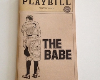Playbill 1984 Princess Theatre The Babe Max Gail Vintage Theater Program NYC