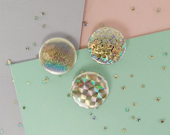 """1"""" holographic buttons (custom!)"""