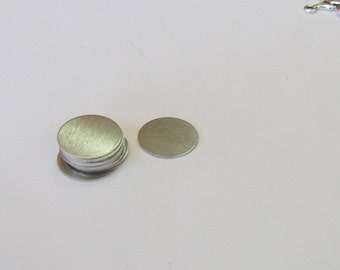 5/8 Aluminum disc - 24 gauge  metal blanks - 15 50 100 Count