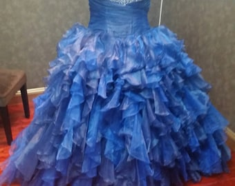 Blue Bridal Ballgown Wedding Dress READY TO SHIP