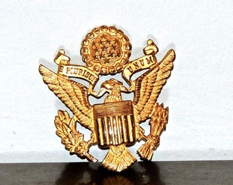 vintage military hat pin shield WWII
