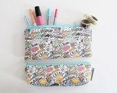 pencil pouch -- create + inspire doodles