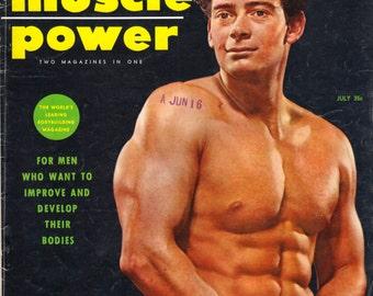 Vintage 1955 Muscle Power - Men's Body Builder Magazine - Complete