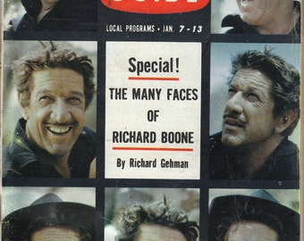 1961 TV Guide - Richard Boone On Cover - Guide # 406 - VG Complete