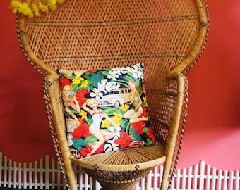 Hula Girl cushion cover