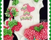 1st Birthday girl set, first birthday outfit, bodysuit, leg warmers, hair bow, ruffled diaper cover