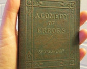 A Comedy of Errors by William Shakespeare  - Miniature Book Little Leather Library 1920s Antique Vintage