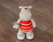 Download PDF crochet pattern 11 - Happy Hippo.