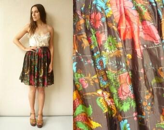 Vintage Indian Hippie Bohemian Gypsy Mini Skirt Size Small