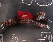 Knitted sloth toy, superhero toy, kids toy, sloth plush, sloth stuffie, soft toy