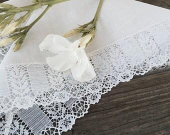 White Lace Brides Hankie Handkerchief Wedding Hanky Hankerchief Something Old Bridal Gift
