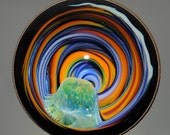Colorful Vortex Marble with Copper by Tim Keyzers