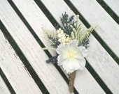 flower boutonnieres , white boutonniere, blue boutonniere, wedding boutonniere, ring bearer boutonniere, ready to ship