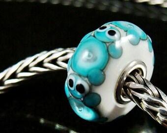 Sea Turtles fits Trollbeads Artisan European Charm Bead SRA Big Hole Bead