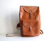 RESERVED Classic British Tan Leather Backpack