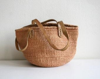 Coral Sisal Market Bag