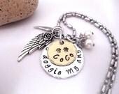 Dog Memorial Jewelry, Pet Memorial Jewelry, Doggie Memorial, Hand Stamped Jewelry, My Doggie My Angel