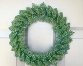 Sea Glass Blend French Beaded Decorative Wreath (Small)