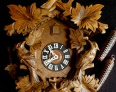EX LARGE 8 Day Black Forest Cuckoo Clock-GERMANY 3 Bird w/ Nest and Babies