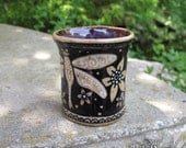 Dragonfly Cup - stoneware ceramic shot glass espresso cup