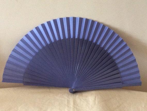 Regency/Victorian Style Fan. Lavender Purple Plain Cotton/Painted Wood. Bridal Favour.