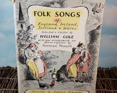 Folk Songs of England, Ireland, Scotland and Wales Vintage 1961 First Edition Hardcover Music Book