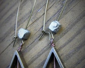 Triangle and Pyrite Earrings