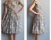 1940s Dress // Change of Season Dress // vintage late 40s dress
