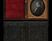 TWO Special 1/6 Dags of Men ~ One Profile Portrait & Early Photography/ 1840s