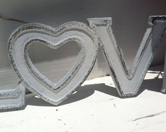 Love Sign/ Cast Iron Wall Decor / LoVe Sign /  Pick your CoLOr/ Wedding Decor/ Wedding Prop
