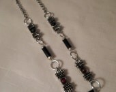 Vintage / GREEK REVIVAL / Necklace / Silver / Black / Steampunk / Hipster / Modernist / Tribal / Romanesque / Trendy / Chic / Accessory